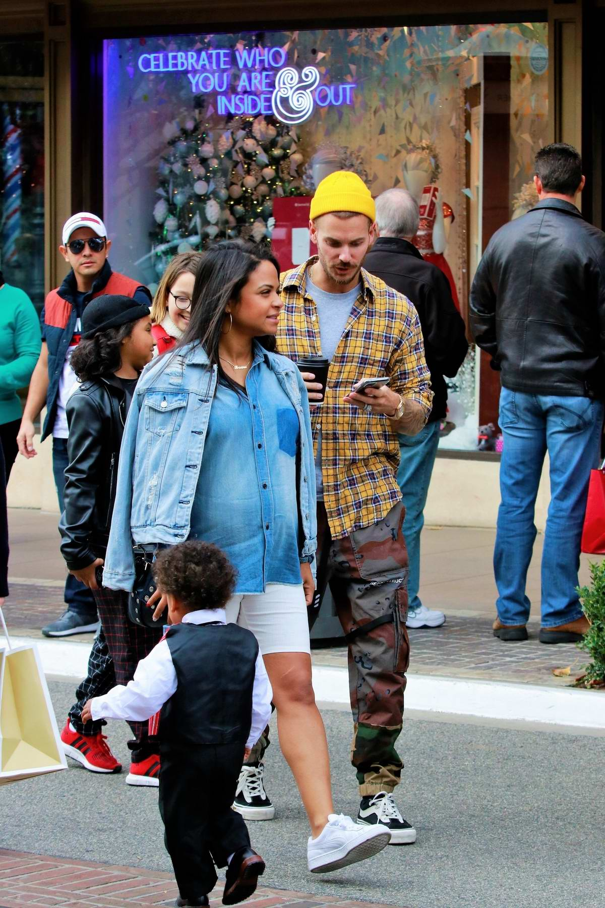 Christina Milian Shops At Pottery Barn Kids With Boyfriend