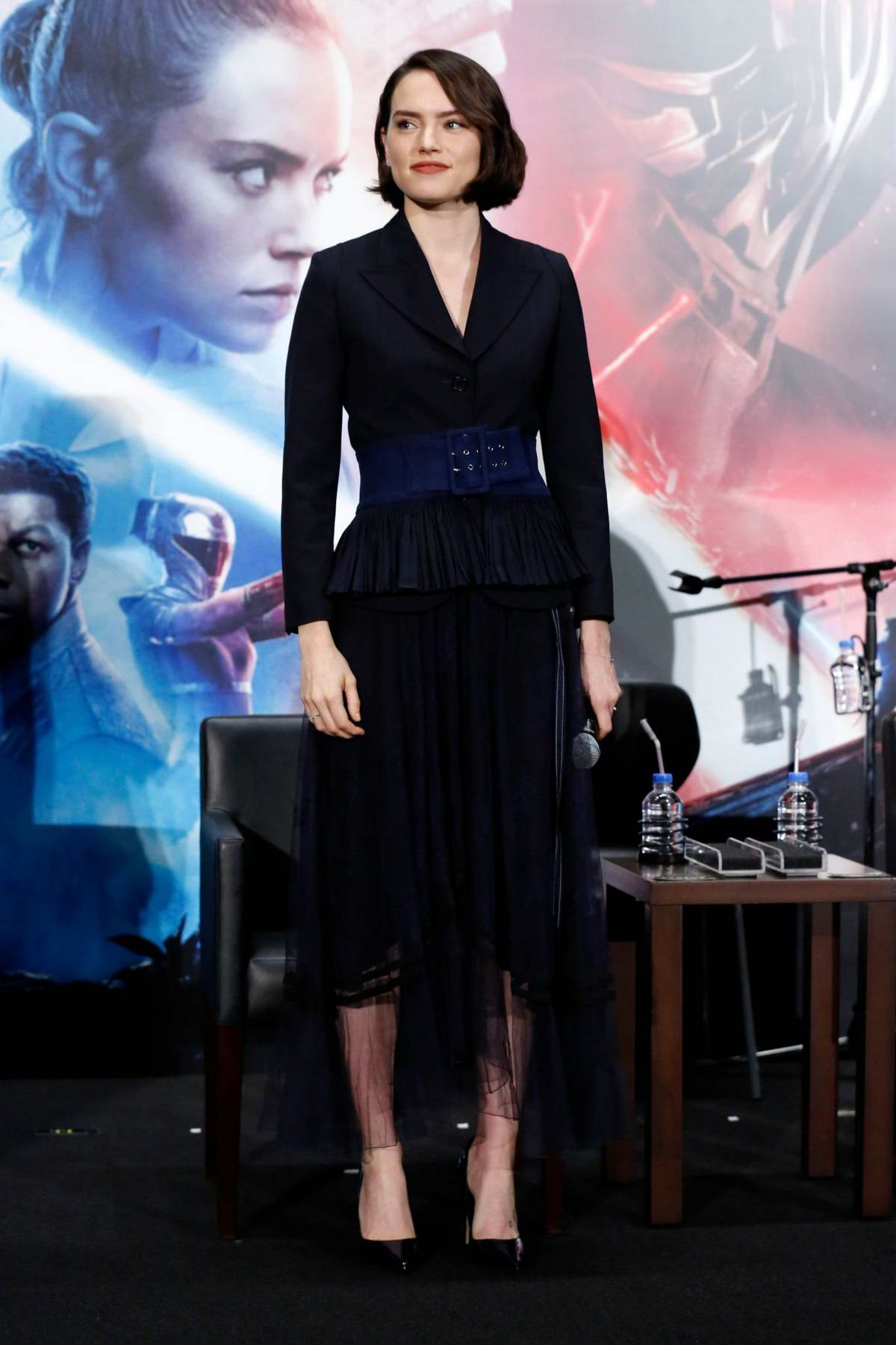 Daisy Ridley attends Star Wars: The Rise of Skywalker Press Conference in Tokyo, Japan
