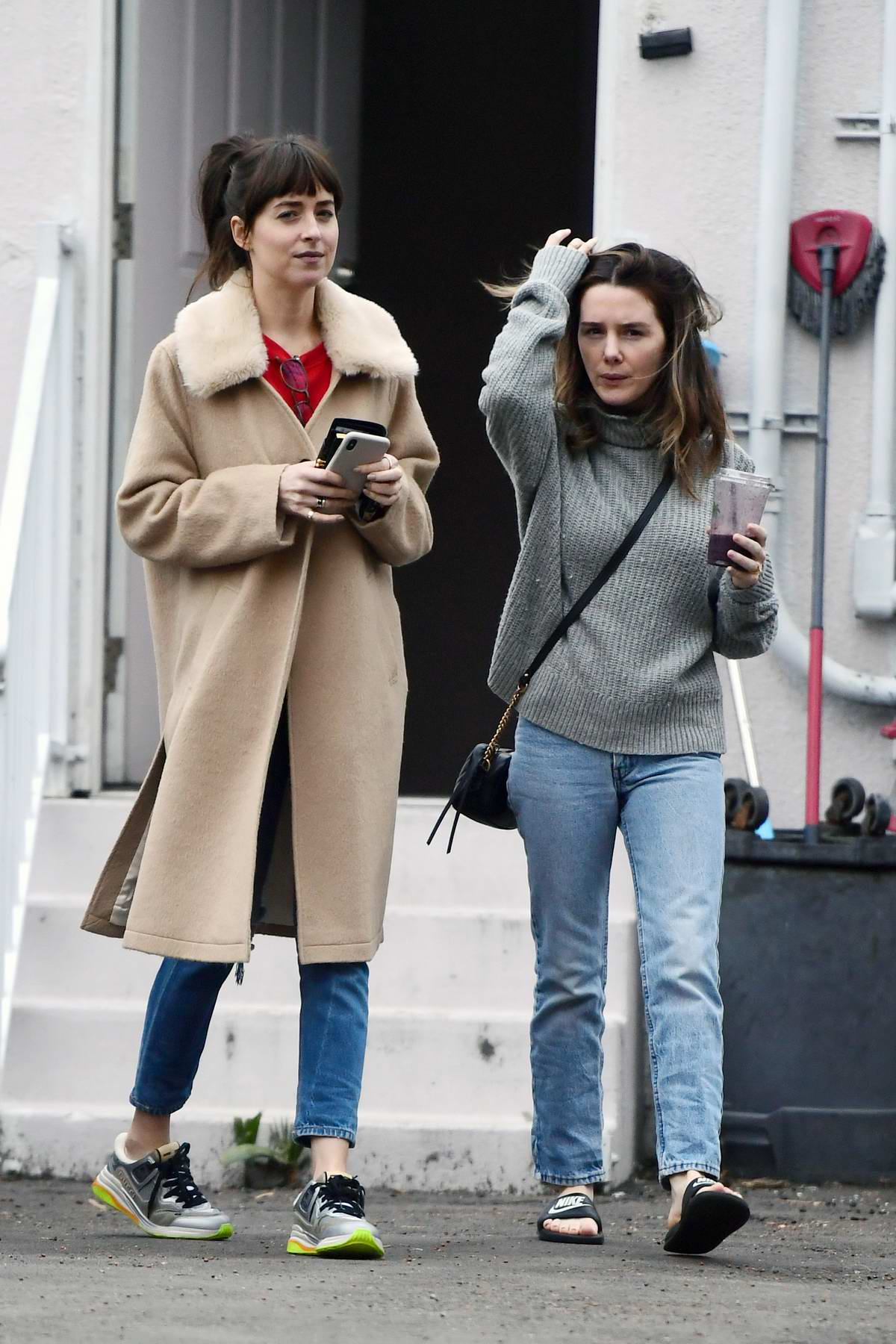 Dakota Johnson and Addison Timlin stop by a Nail Salon in Los Angeles