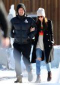 Dakota Johnson and Chris Martin seen having fun skiing in Aspen, Colorado