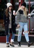 Dakota Johnson and Chris Martin step out for lunch with Apple Martin in Aspen, Colorado