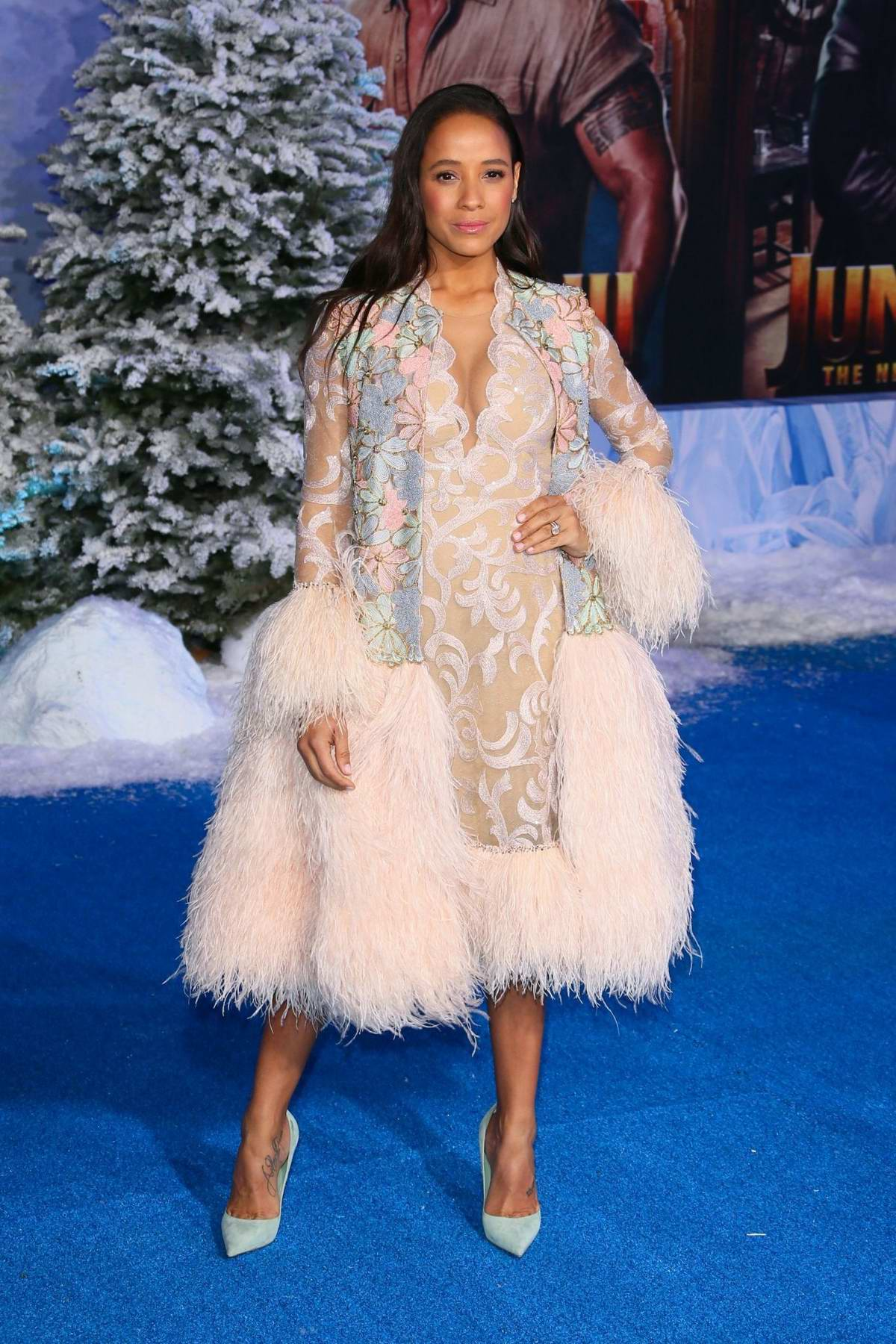 Dania Ramirez attends the Premiere of 'Jumanji: The Next Level' at TCL Chinese Theatre in Hollywood, California