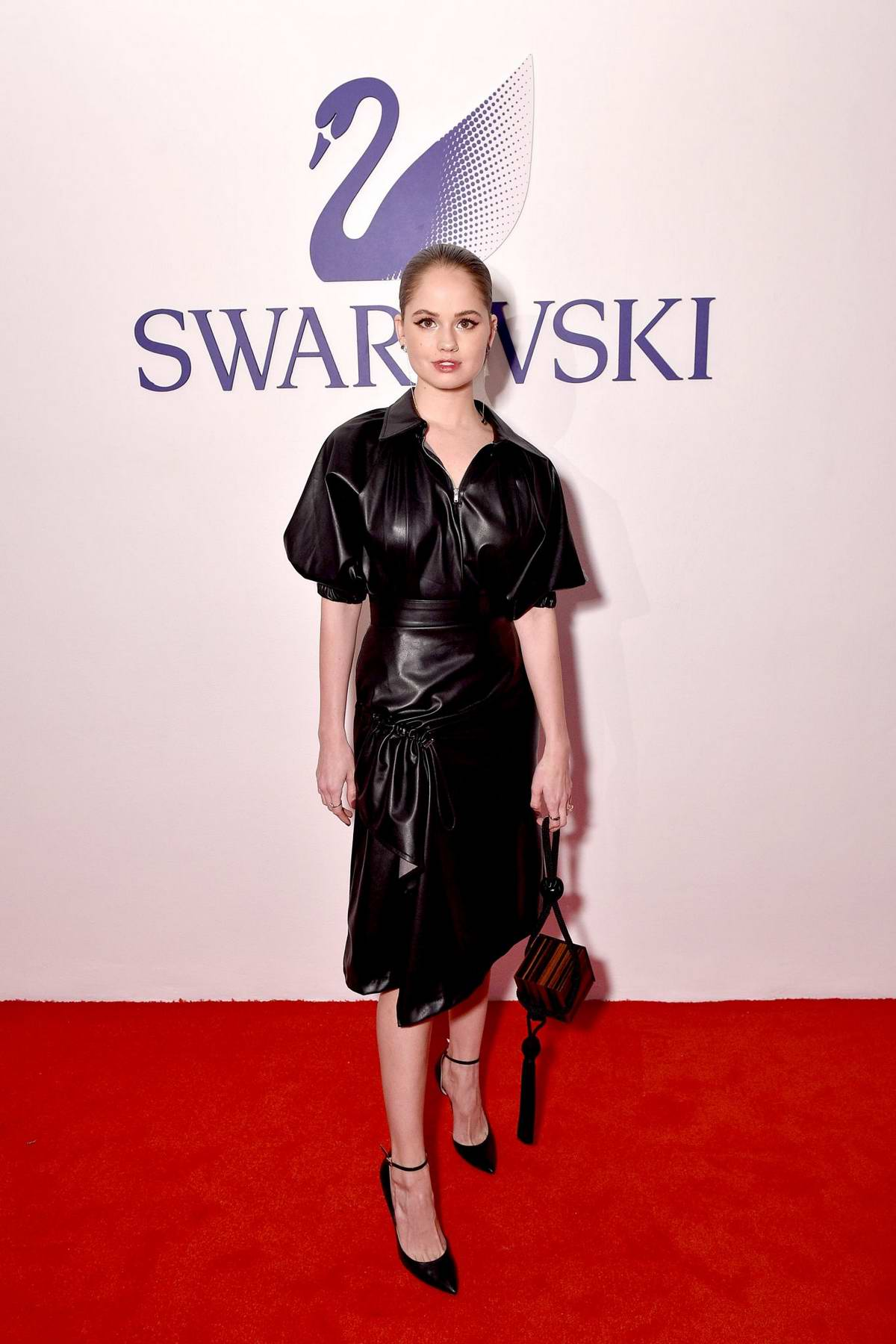 Debby Ryan attends the Swarovski's Naughty or Nice Holiday Celebration in New York City