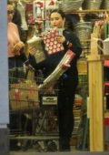 Demi Lovato spotted in all black while shopping at a Cost Plus Market in Westwood, California