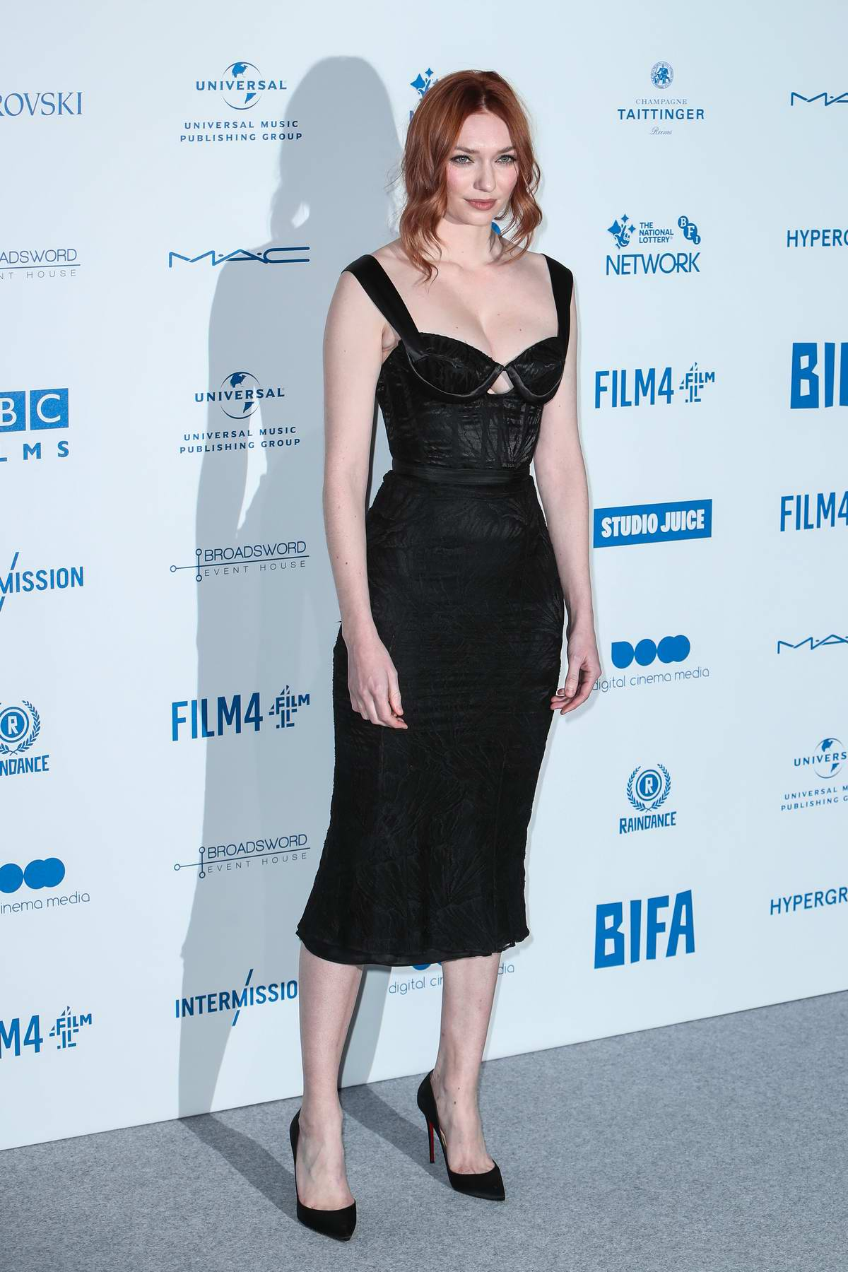 Eleanor Tomlinson attends the British Independent Film Awards 2019 at Old Billingsgate in London, UK