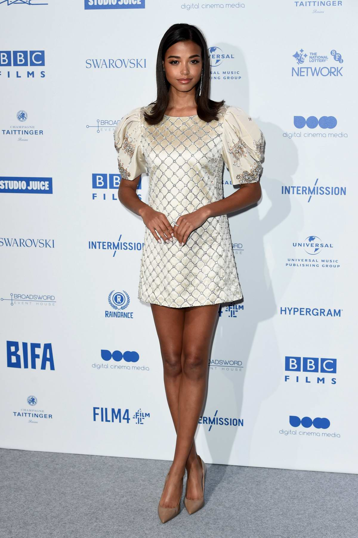 Ella Balinska attends the British Independent Film Awards 2019 at Old Billingsgate in London, UK