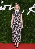 Ellie Bamber attends The Fashion Awards 2019 held at Royal Albert Hall in London, UK