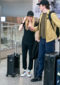 Ellie Goulding and husband Caspar Jopling spotted as they touch down at Miami International Airport in Miami, Florida