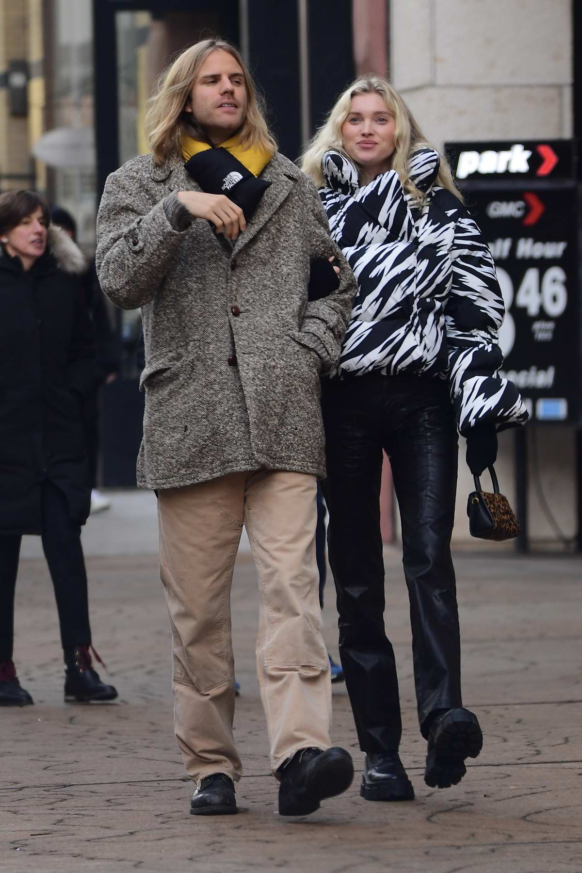 Elsa Hosk and Tom Daly step out for a romantic stroll in Teaneck, New Jersey