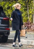 Emma Roberts steps out in a black blazer while visiting a friend in Los Angeles