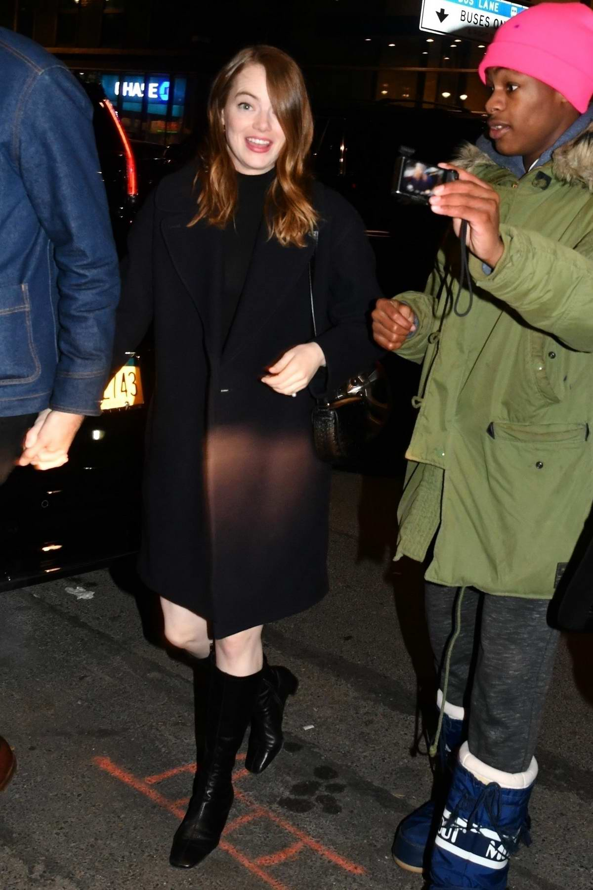 Emma Stone and Dave McCary head to the SNL afterparty in New York City