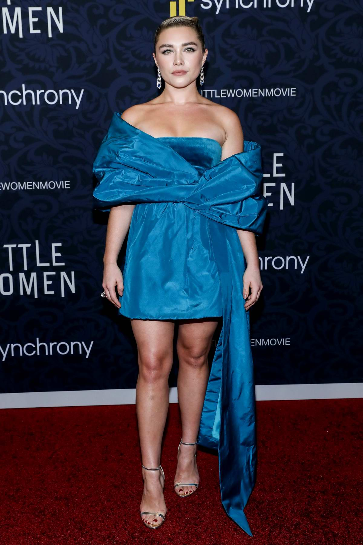 Florence Pugh attends the World Premiere of 'Little Women' held at MoMa in New York City