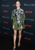 Freya Allan attends 'The Witcher' Photocall in Hollywood, California