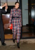 Gigi Hadid steps out in a stylish plaid outfit for Z100's Jingle Ball in New York City