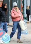 Gwyneth Paltrow goes Christmas shopping with a group of friends on a chilly afternoon in Aspen, Colorado