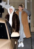 Hailey Bieber and Justin Bieber attend Wednesday night church service in Beverly Hills, Los Angeles