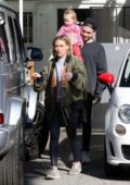 Hilary Duff and Matthew Koma step out for an iced coffee at Alfred Coffee in Studio City, California