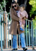Hilary Duff enjoys a playdate with her daughter before grabbing some food to go from Joan's On Third in Los Angeles