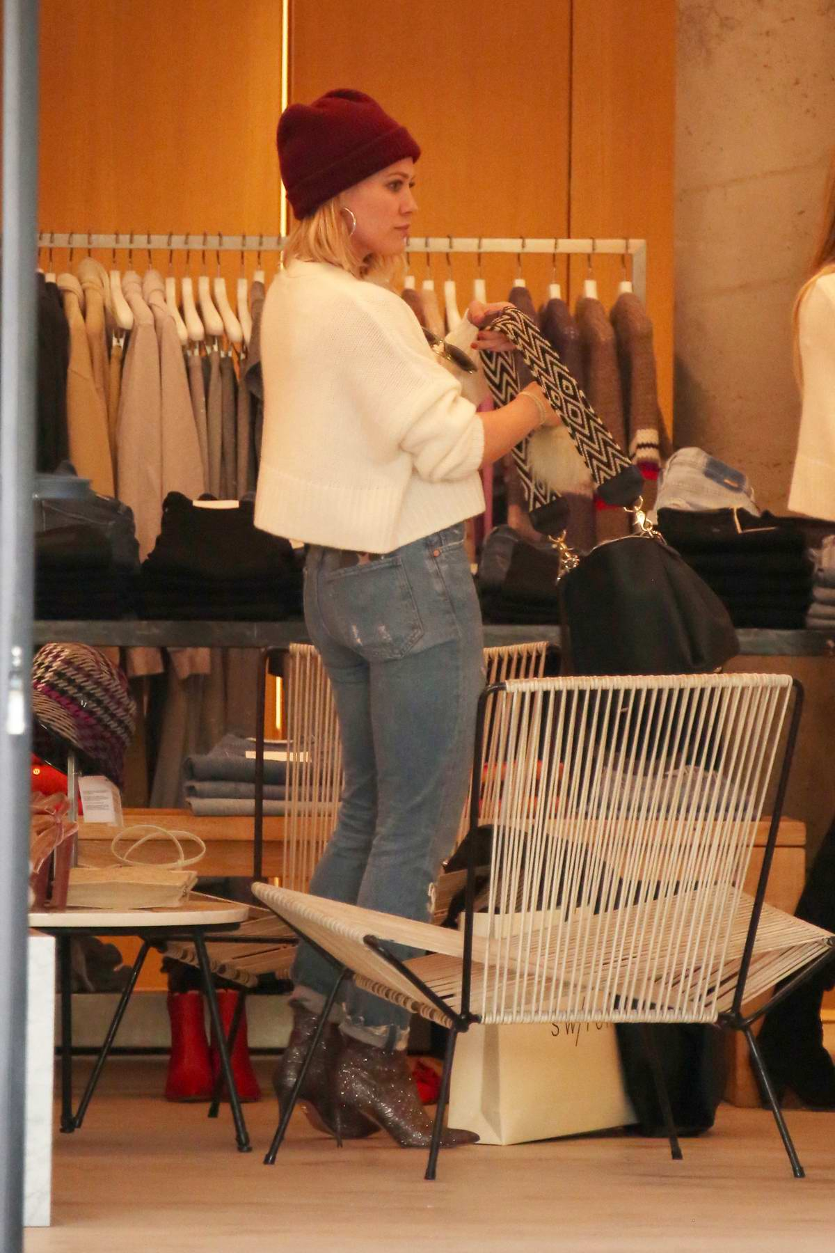 Hilary Duff gets some Christmas shopping done in Los Angeles