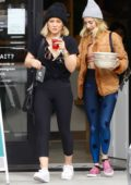 Hilary Duff hits the gym before picking up lunch to go from Sweetgreen in Studio City, California