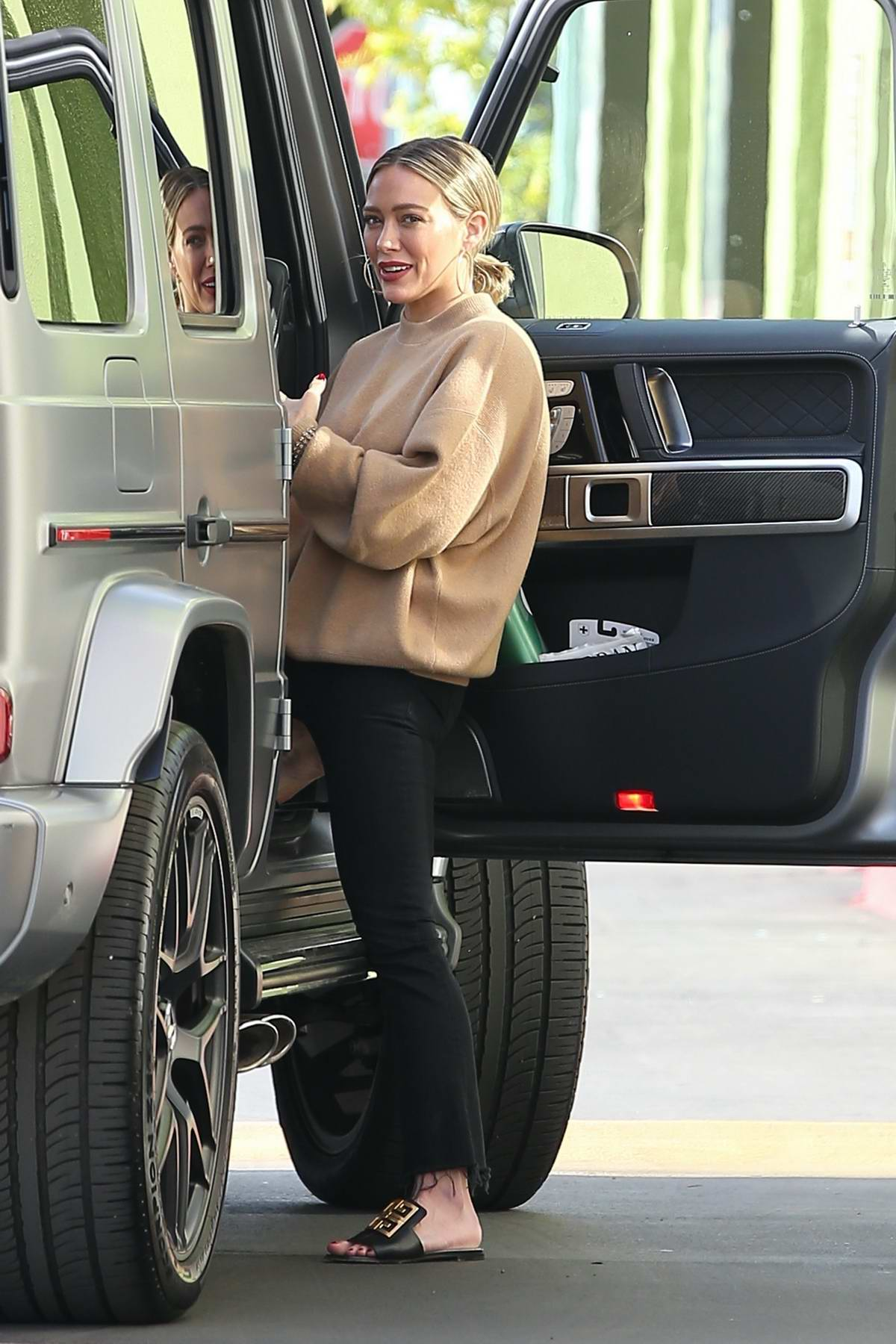 Hilary Duff spotted for the first time post wedding as she steps out with her family in Studio City, California