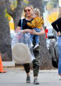 Hilary Duff takes her kids for some last minute Christmas shopping in Studio City, California