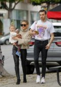 Hillary Duff and Matthew Koma grab lunch after some shopping in Beverly Hills, California