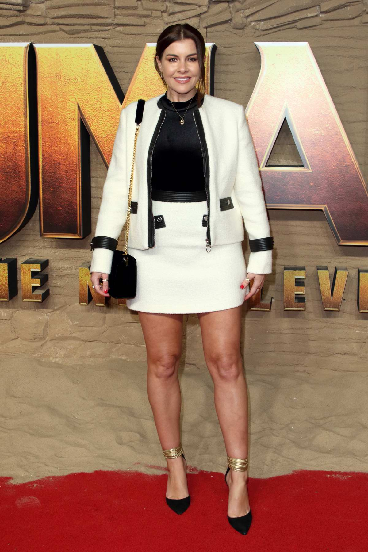 Imogen Thomas attends the Premiere of Jumanji: The Next Level in London, UK