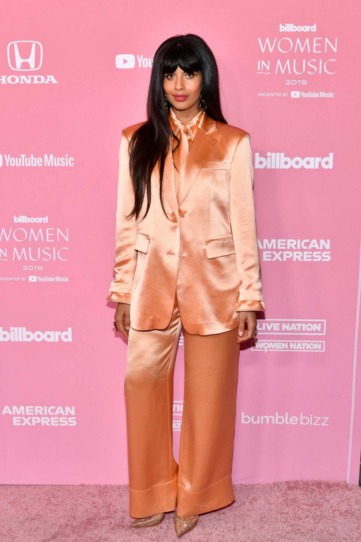 Jameela Jamil attends the 2019 Billboard Women in Music at Hollywood Palladium in Los Angeles