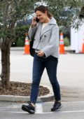 Jennifer Garner spotted chatting on the phone while stopping by the Brentwood Country Mart in Brentwood, California