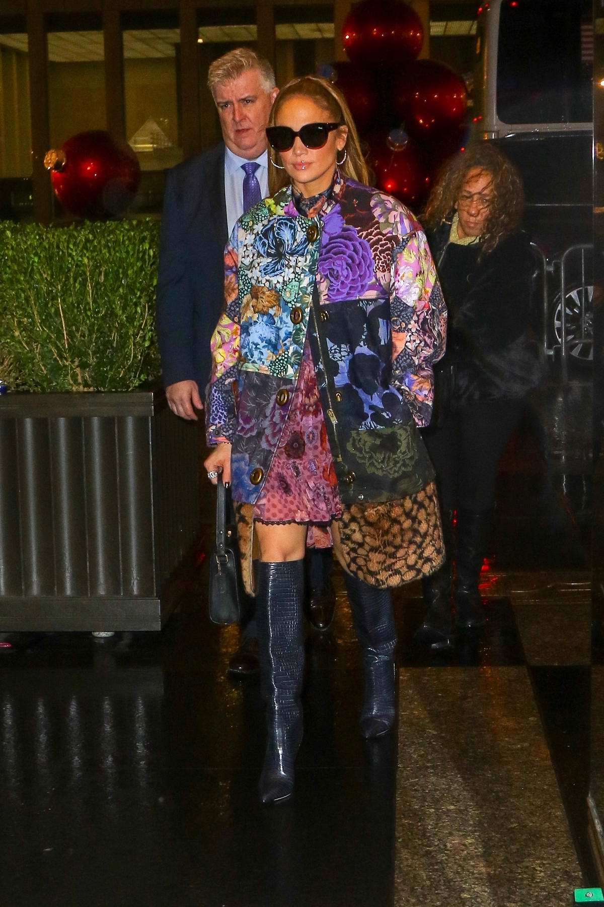 Jennifer Lopez arrives for an appearance at 'The Tonight Show Starring Jimmy Fallon' at NBS Studios in New York City