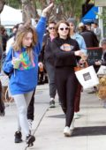 Joey King and Sabrina Carpenter grab some coffees and snacks at Joan's on Third in Los Angeles