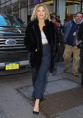 Julianne Hough looks great in a black fur coat while visiting the 'Today' Show in New York City