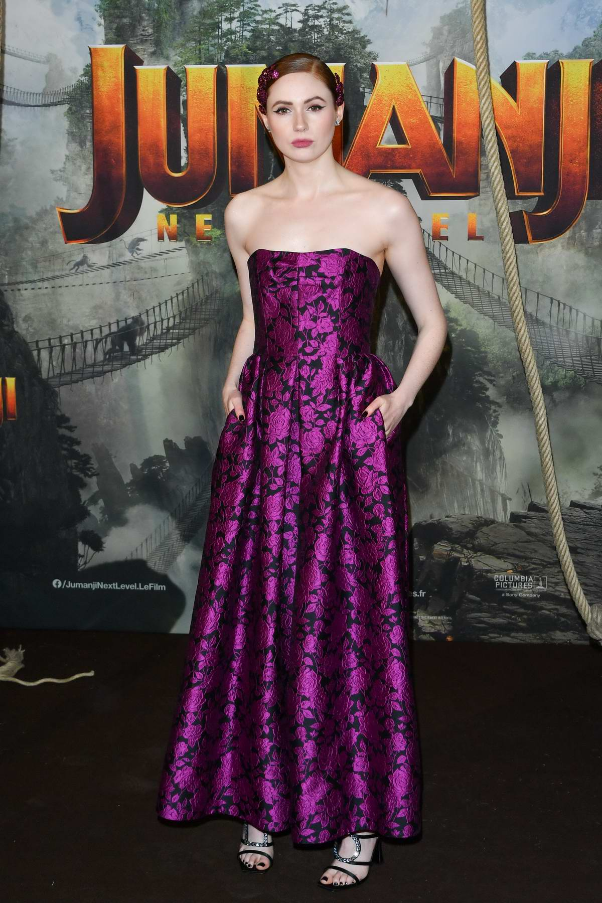 Karen Gillan attends the Premiere of 'Jumanji: Next Level' in Paris, France