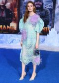 Karen Gillan attends the Premiere of 'Jumanji: The Next Level' at TCL Chinese Theatre in Hollywood, California