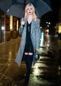 Katherine McNamara puts on stylish display as she arrives for the Stella McCartney Holiday Party in New York City