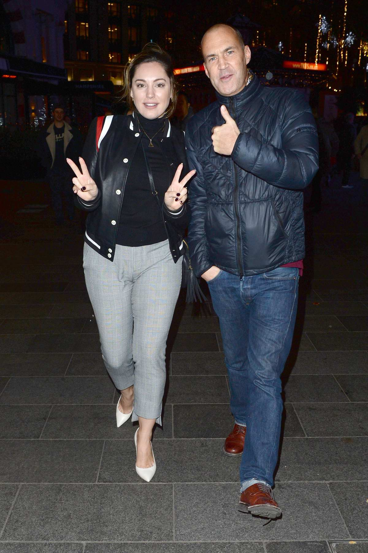Kelly Brook seen leaving the Global Radio Studios on Trafalgar Square in London, UK