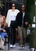 Kendall Jenner keeps it casual yet trendy while grabbing a late lunch at Zinque in West Hollywood, Los Angeles