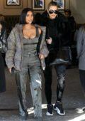 Kim Kardashian and Khloe Kardashian meet for lunch at Grandville restaurant in Studio City, California