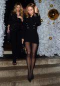 Kimberley Garner looks great in black as she leaves Annabels Private Members Club in London, UK