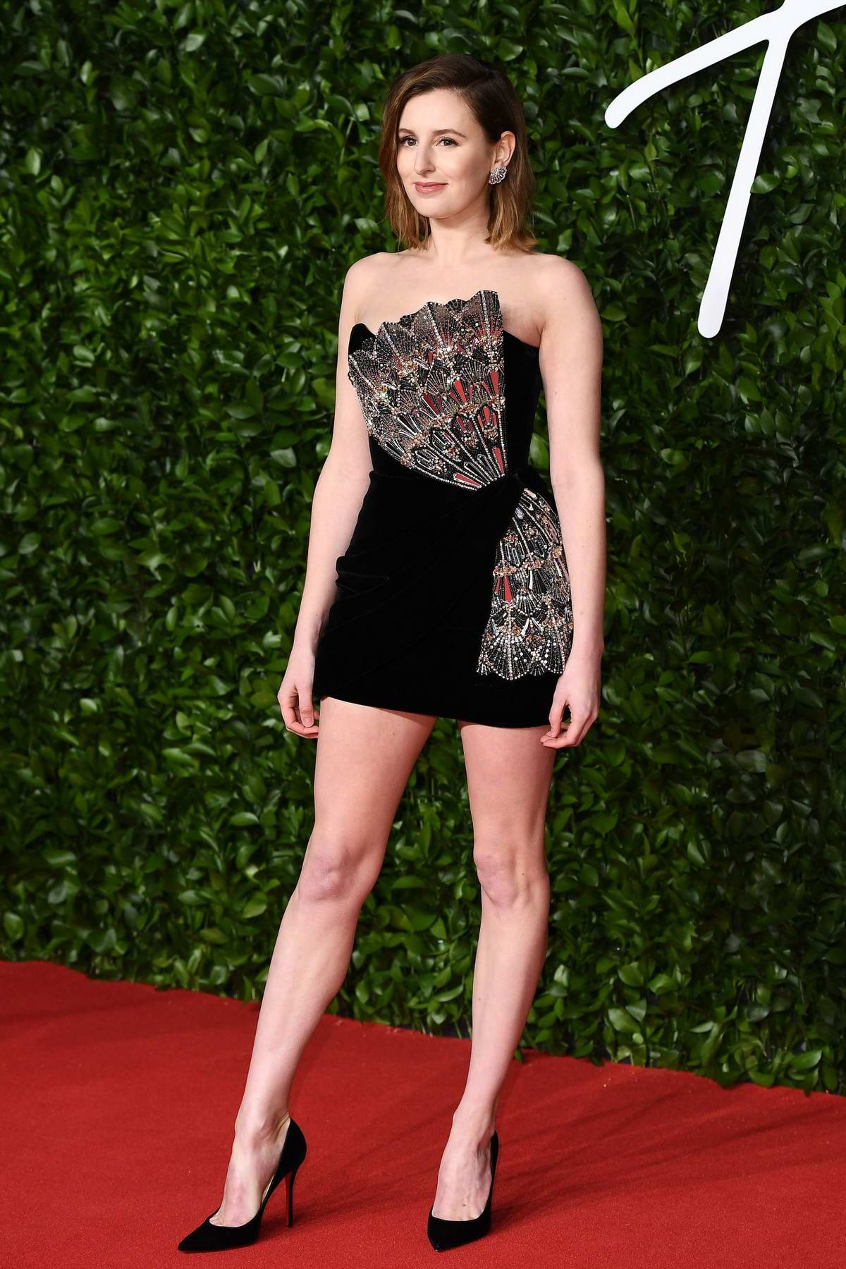 Laura Carmichael attends The Fashion Awards 2019 held at Royal Albert Hall in London, UK