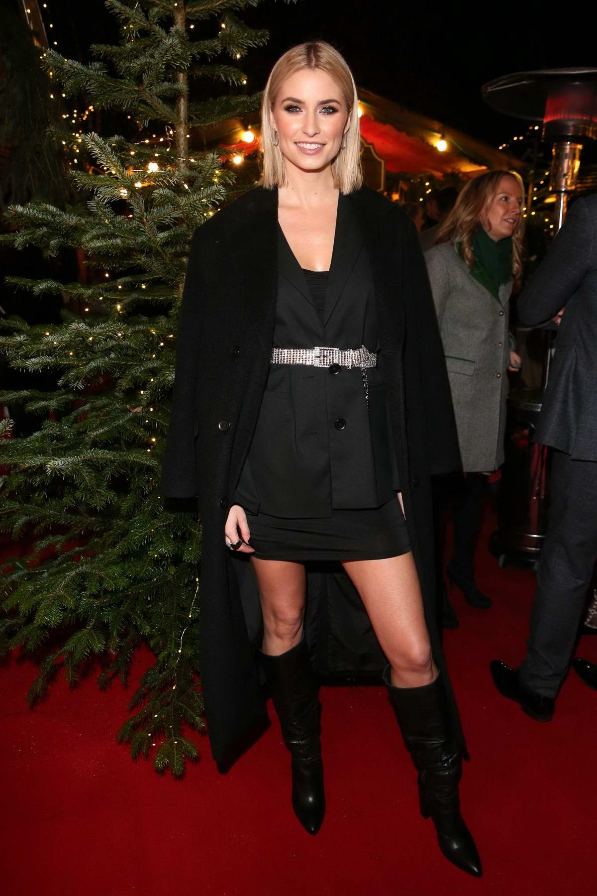 Lena Gercke attends Lena Gercke X ABOUT YOU Christmas Dinner & Party in Kitzbuehel, Austria