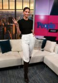 Lily Aldridge visits 'People Now' in New York City