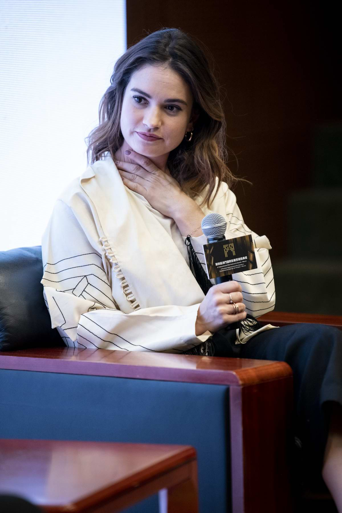 Lily James hosts a Masterclass at The International Film Festival & Awards in Macao