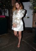 Lily James seen leaving Giorgio Armani Fashion Awards after-party at Harry's Bar in Mayfair, London, UK
