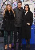 Lucy Hale, Jessie James Decker and Ryan Seacrest attend the Dick Clark's New Year's Rockin' Eve Press Junket in New York City