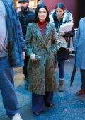 Lucy Hale seen doing rehearsals for 2020 New Year's in Times Square, New York City