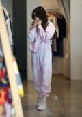 Madison Beer keeps it comfy in a sweatsuit while shopping vintage in West Hollywood, California