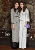 Margaret Qualley and Rainey Qualley attend the Photocall of the Chanel Metiers d'art 2019-2020 show at Le Grand Palais in Paris, France