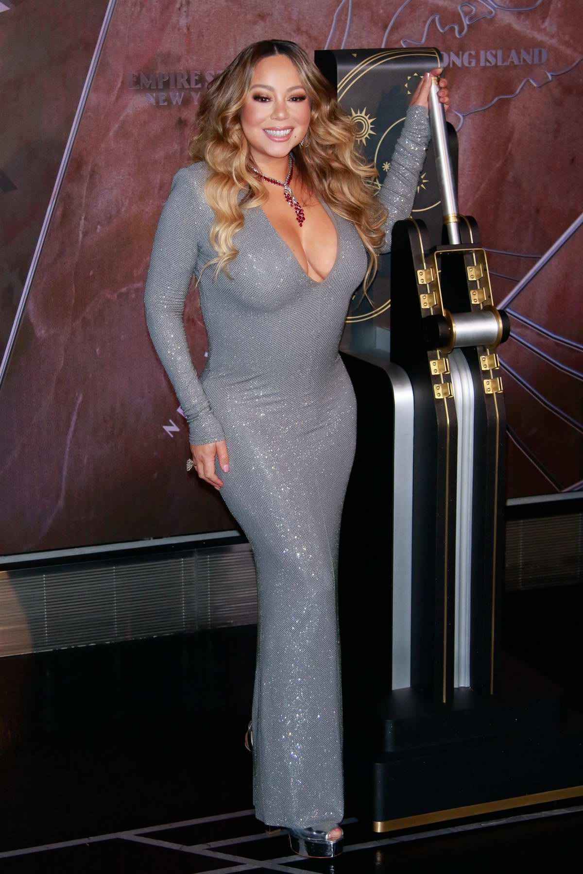 Mariah Carey lights Empire State Building in New York City
